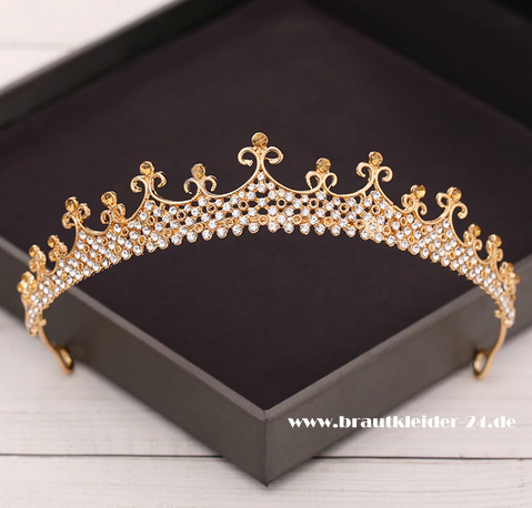 Christina Kristall Tiara in Gold