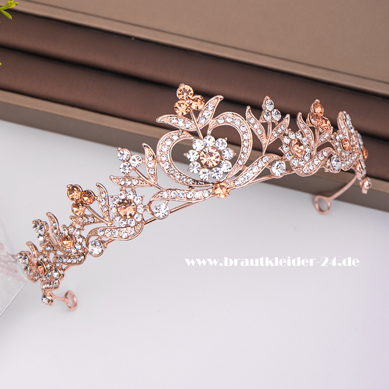 Elizabeth Diadem in Rose Gold