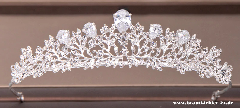 Charlotte Diadem in Silber