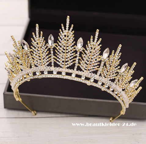 Anna Kristall Tiara in Gold