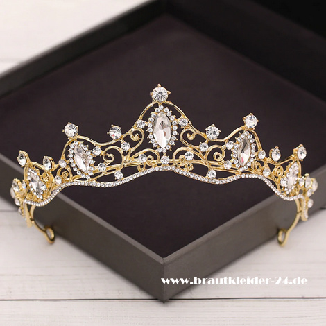 Filippa Kristall Tiara in Gold