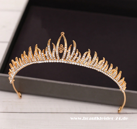 Adelheid Braut Tiara in Gold